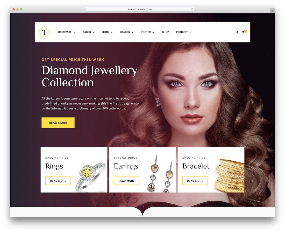 tisara jewelry wordpress theme