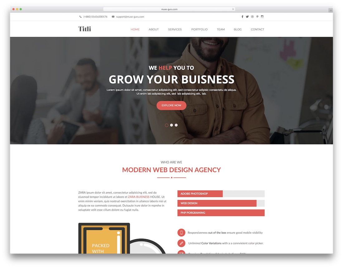 titli adobe muse template