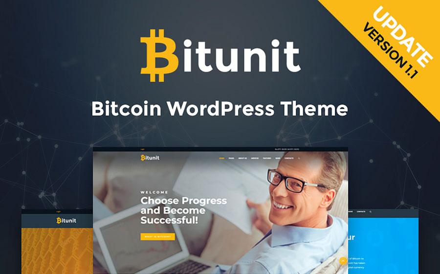 Bitunit - Bitcoin Cryptocurrency WordPress Theme