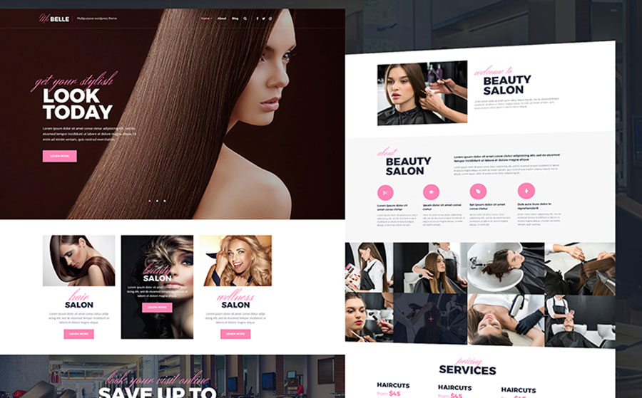 MaBelle - Beauty Salon WordPress Theme