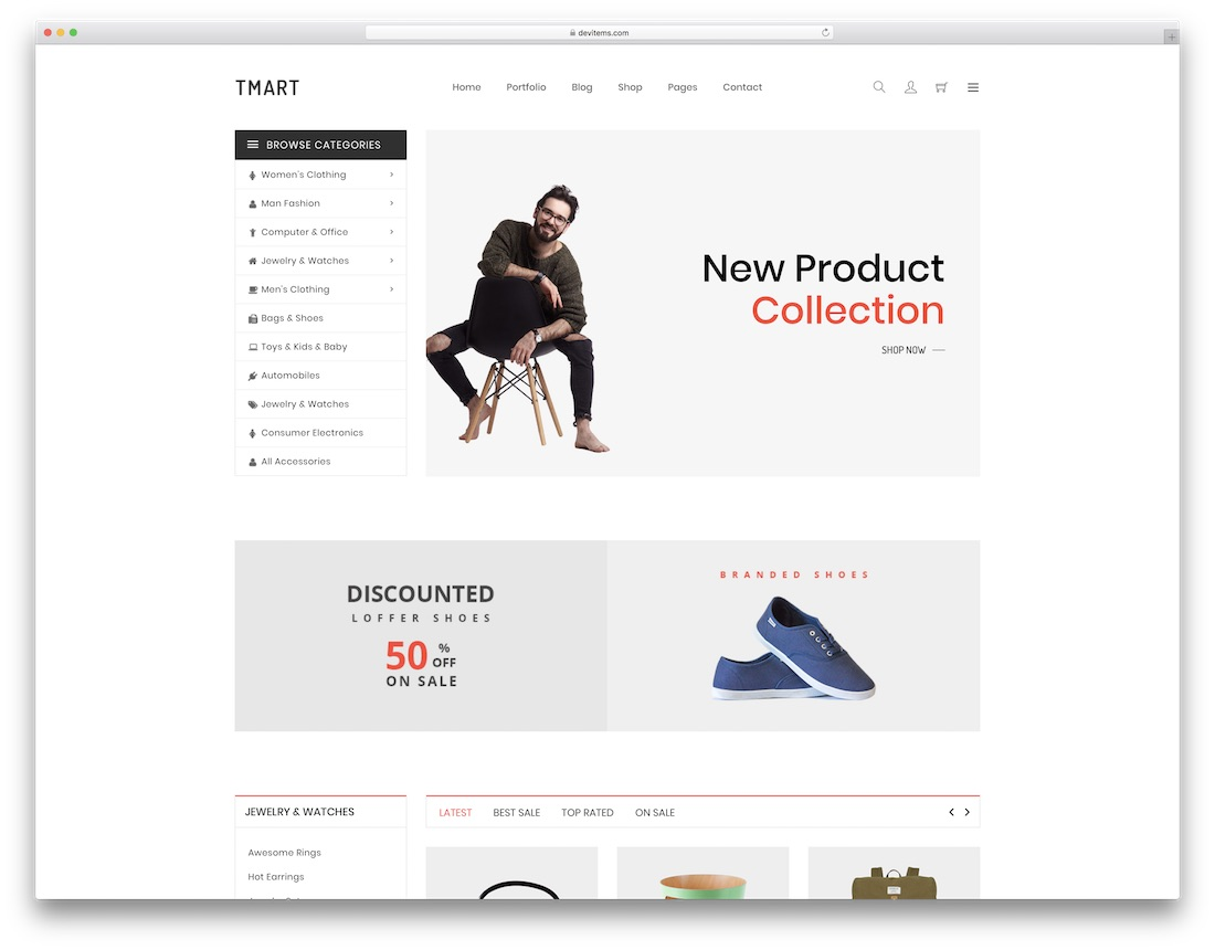 tmart fashion website template