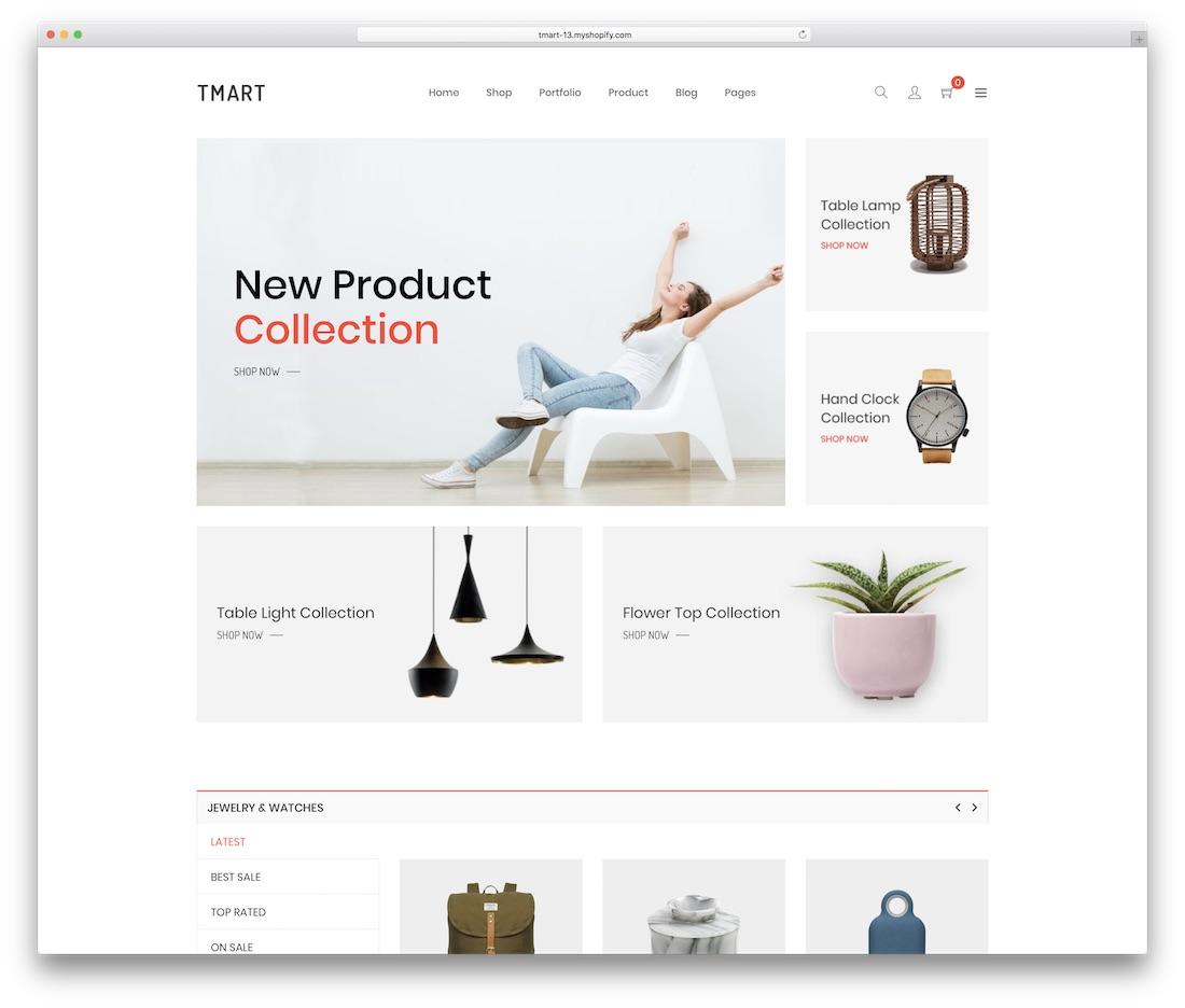 tmart shopify technology theme
