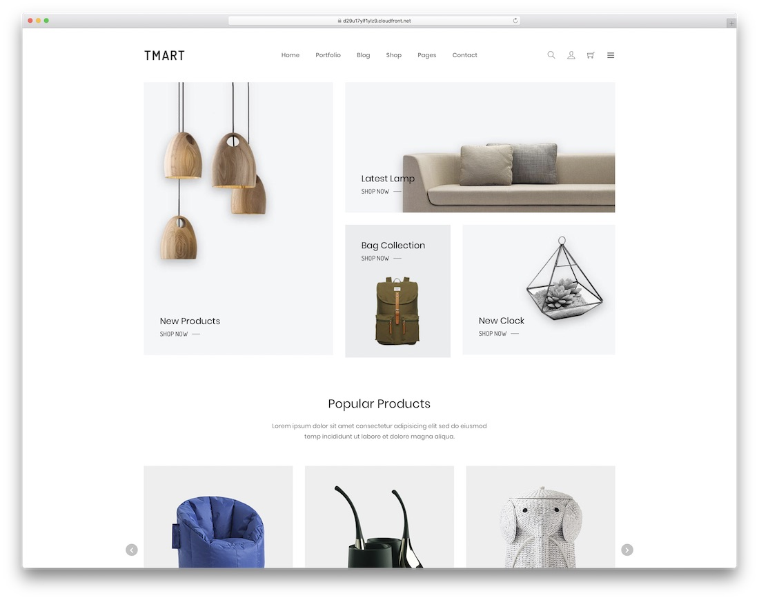 tmart simple bootstrap template