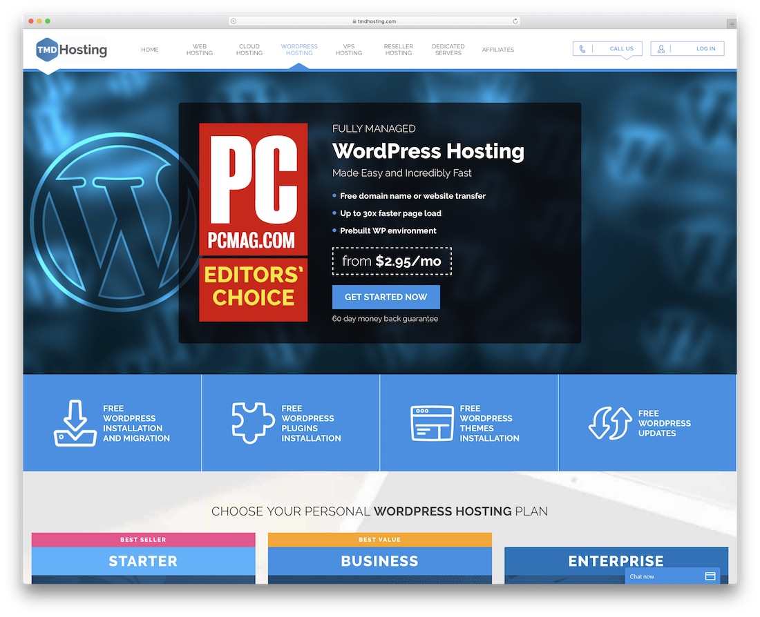 tmdhosting for wordpress