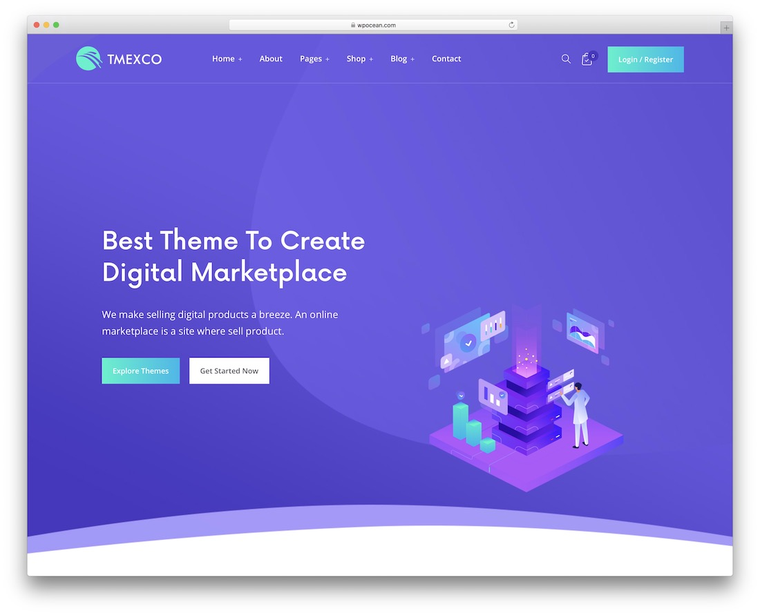 tmexco wordpress theme for selling digital products