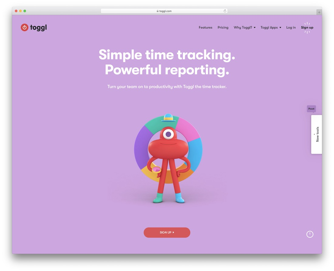 toggl tool for graphic designers
