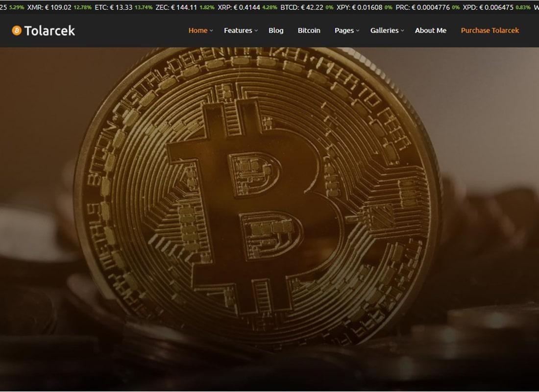 Tolarcek | A Bitcoin & CryptoCurrency WordPress Blog Theme