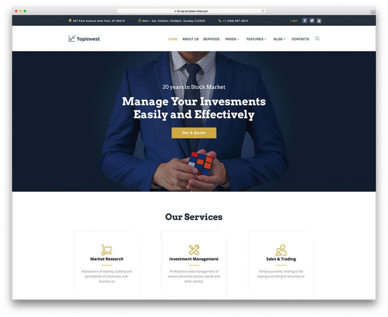 Top 20 WordPress Themes For Business 2018