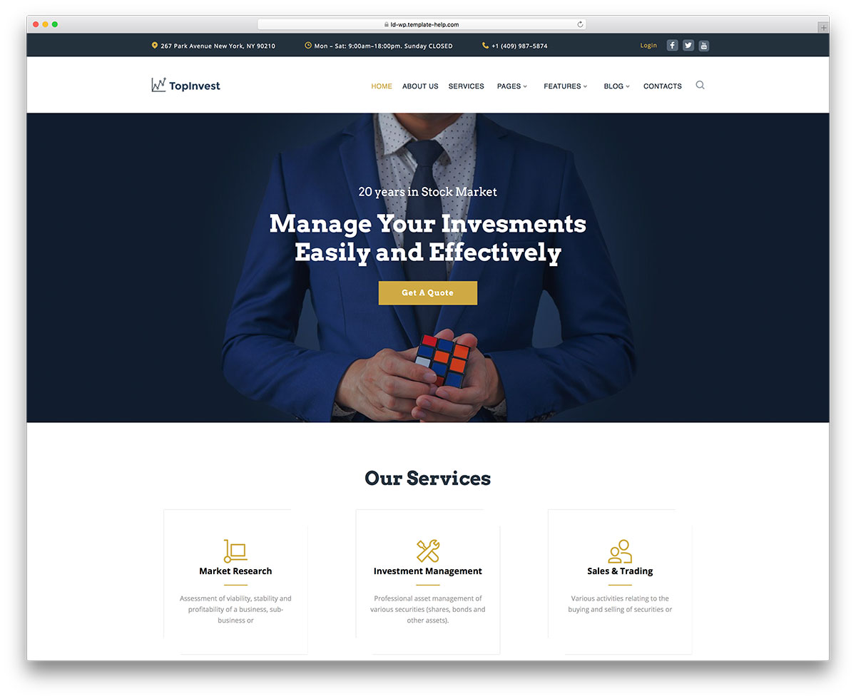 Top 20 WordPress Themes For Business 2019