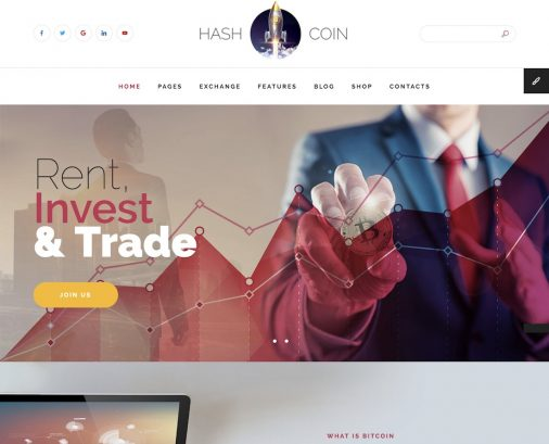 Top Cryptocurrency Website Templates