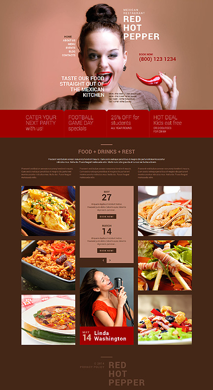 Spicy Mexican Food WordPress Theme