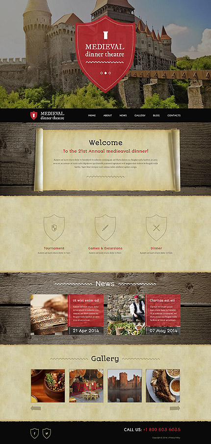 Medieval Dinner Theater WordPress Theme