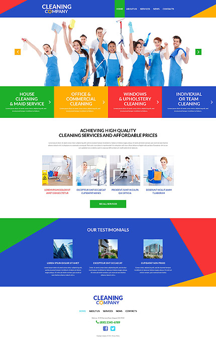 Cleaning Services for Offices WordPress Theme
