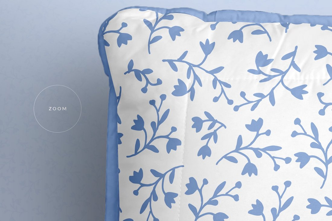 top view soft bed pillow mockup