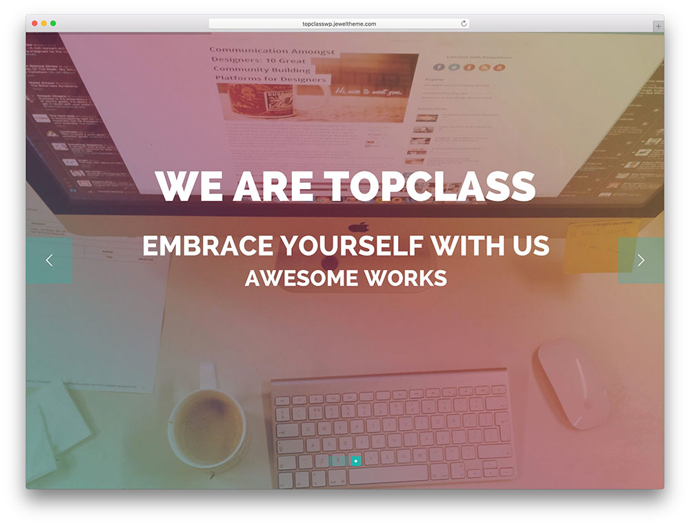topclass - SEO friendly landing page