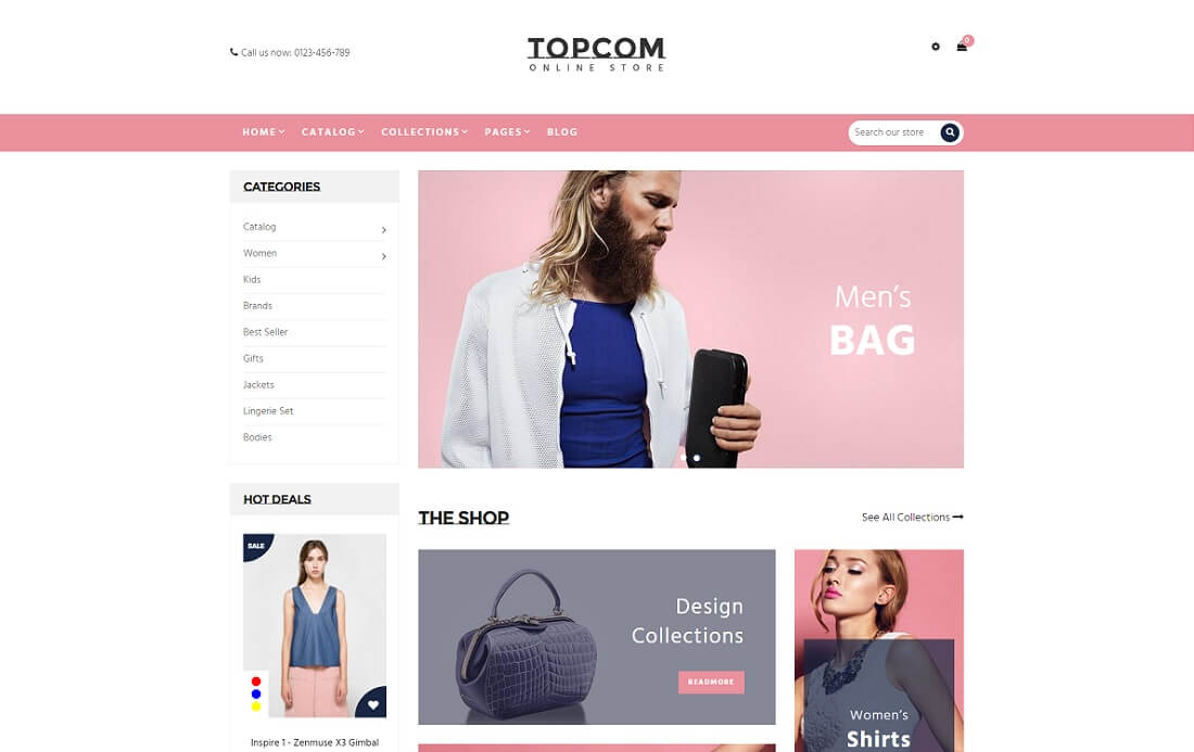 topcom fashion shopify theme