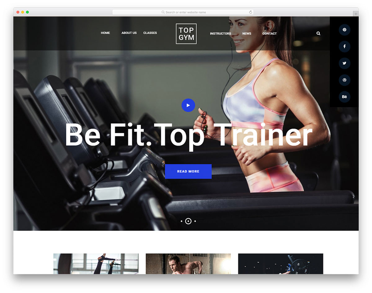TopGym Free Template