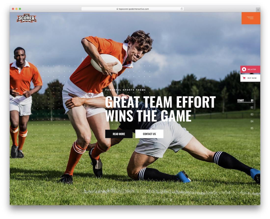 topscorer wordpress sports theme