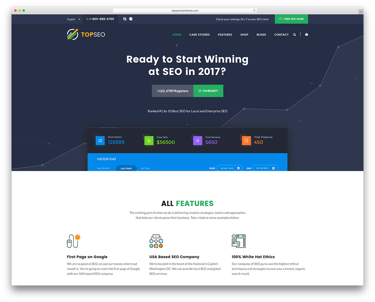 Topseo Seo Agency WordPress Website Template