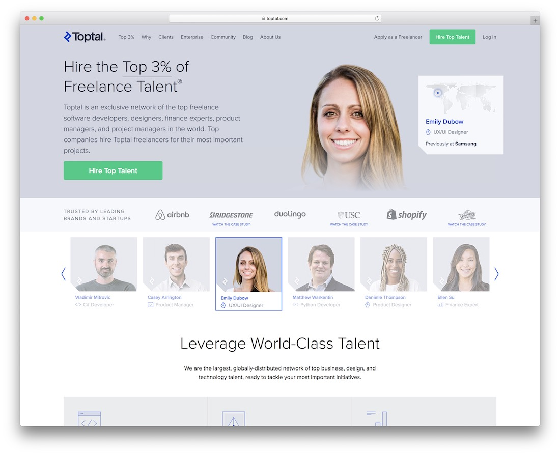 toptal freelance talent marketplace