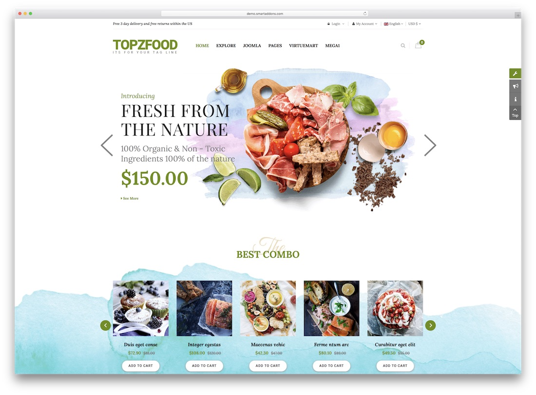 topzfood virtuemart template