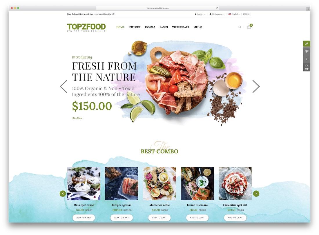 topzfood virtuemart template