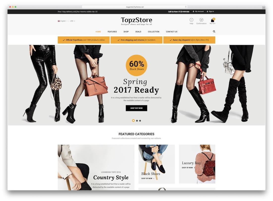 topzstore magento fashion theme