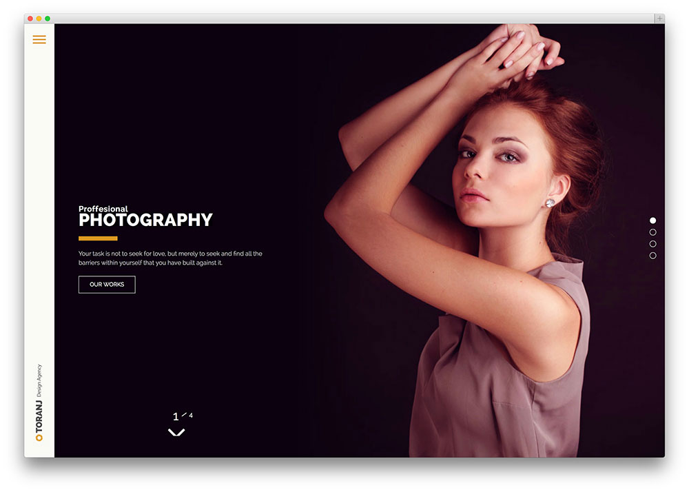 toranj clean photography theme