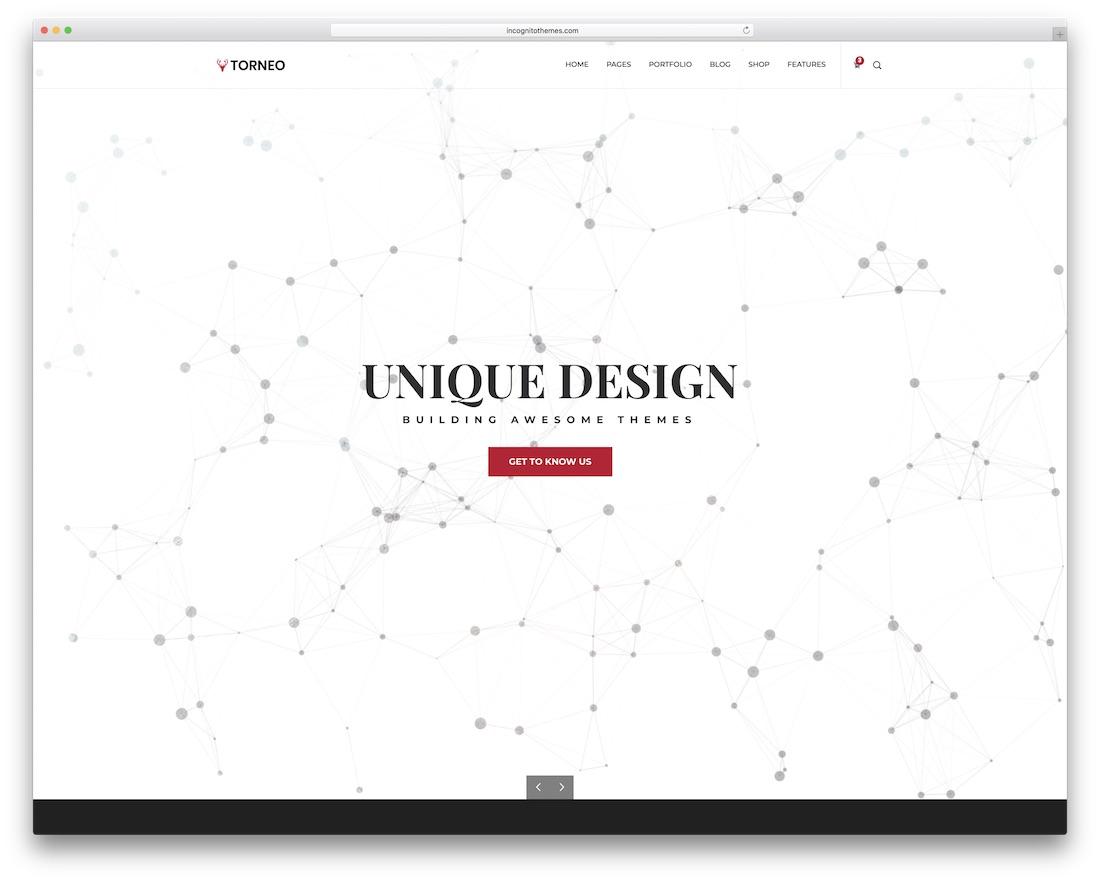 torneo beautiful website template