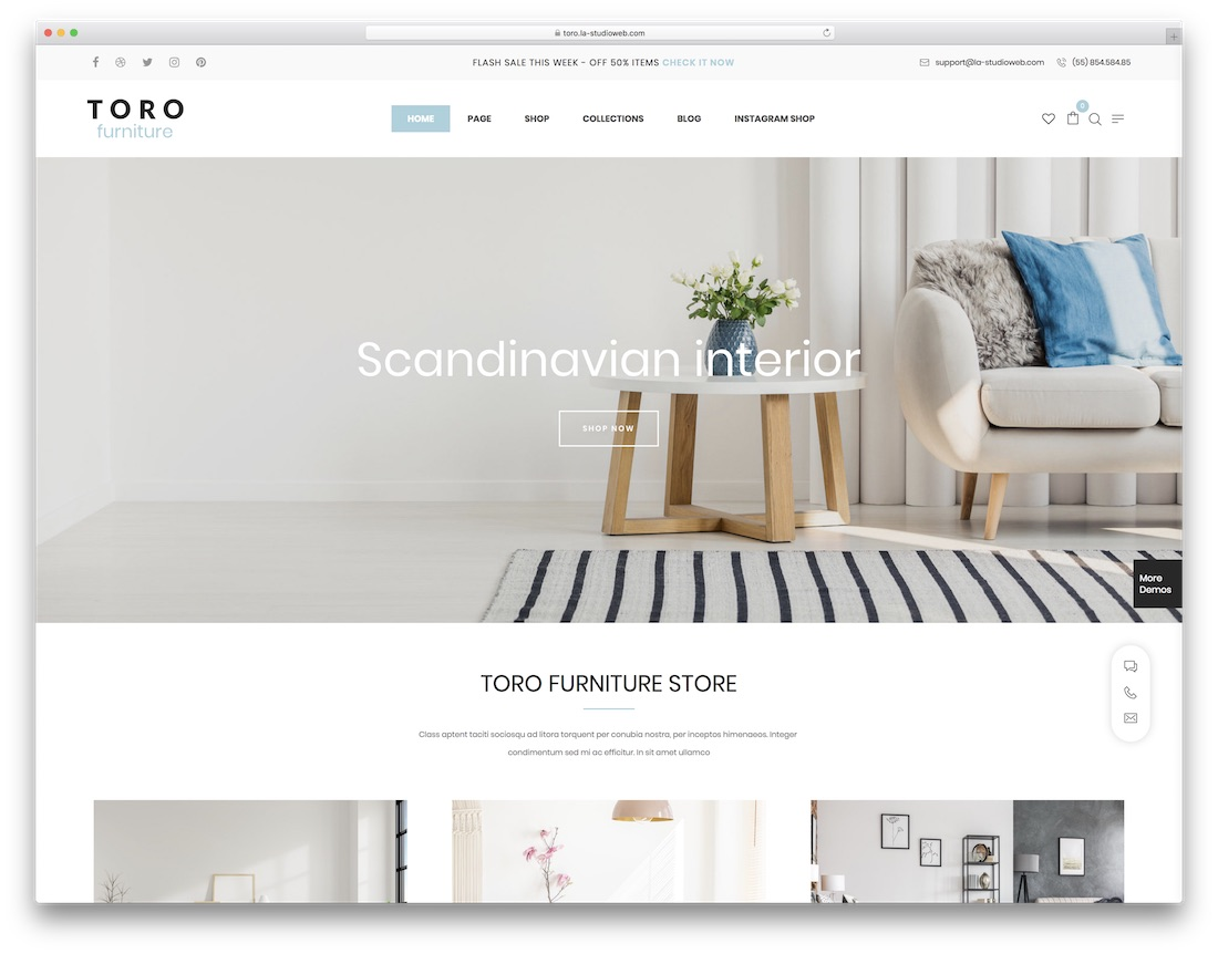 toro furniture wordpress theme