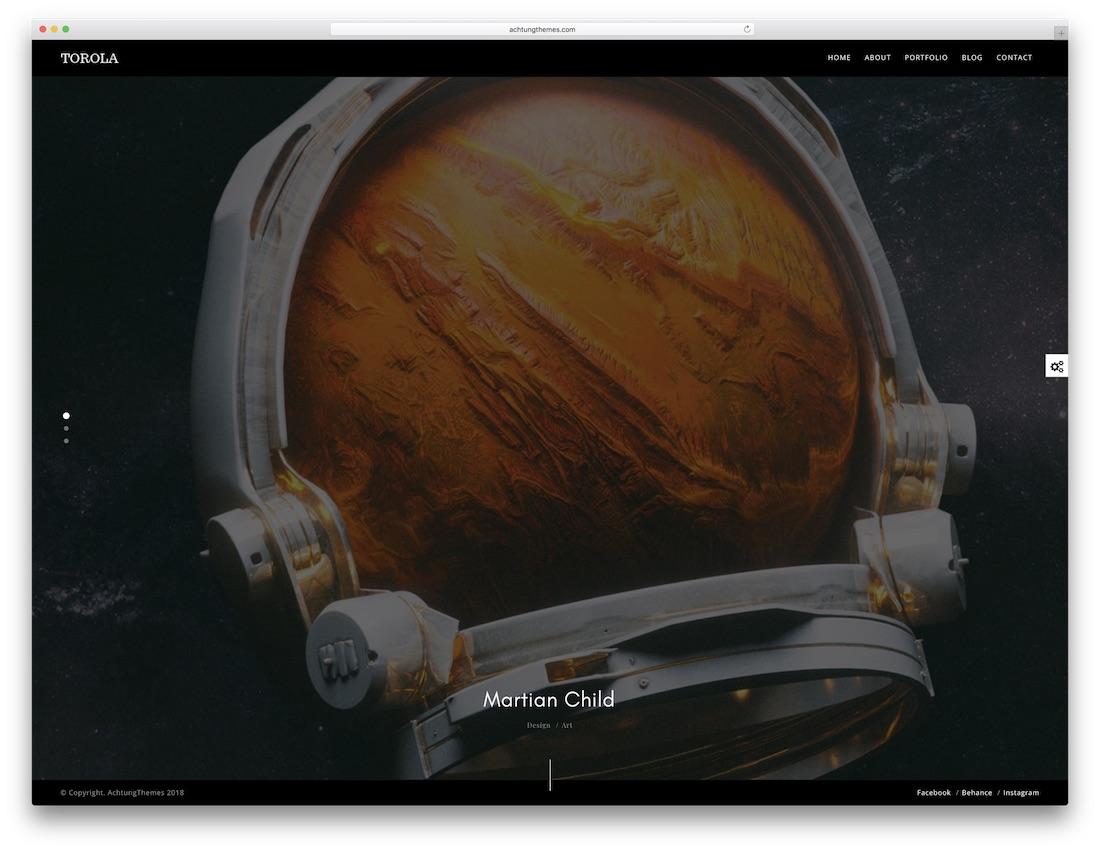 torola fullscreen website template