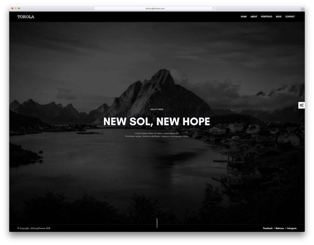 torola graphic design website template