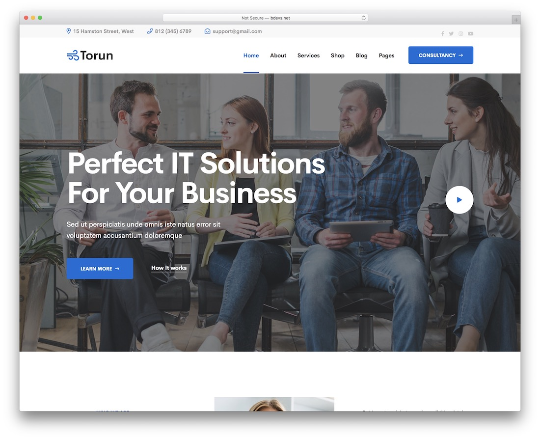 torun it company wordpress theme