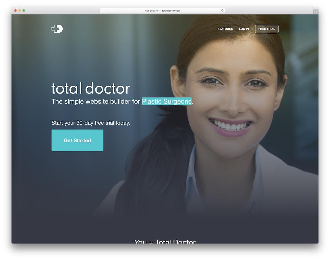 total doctor medical website builder