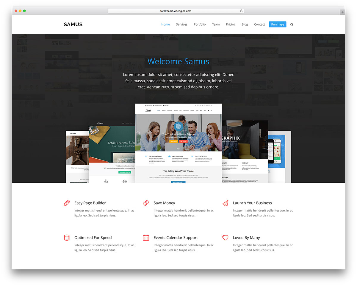 50 best wordpress corporate business themes of 2018 colorlib total flexible business website template accmission