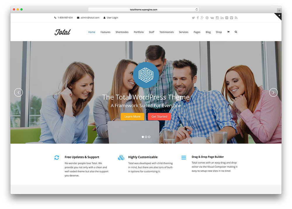 total - minimal small business theme