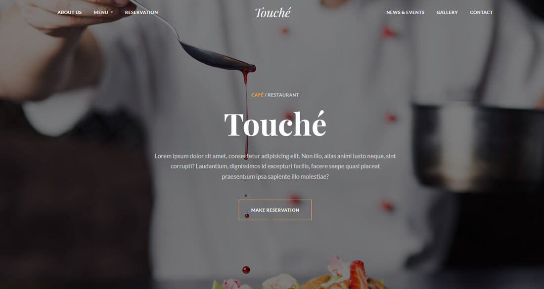 21 best food website templates that satisfy all food lovers 2018