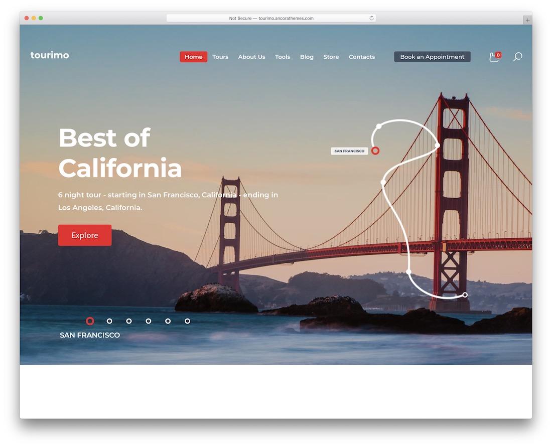 tourimo travel agency wordpress theme