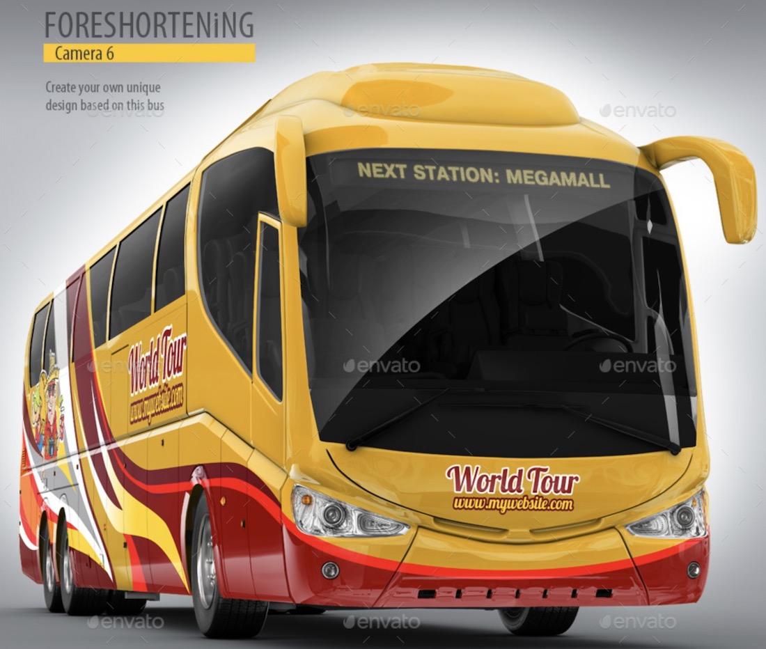 tourist bus mockup