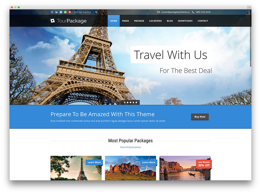 tour package - well designed travel theme