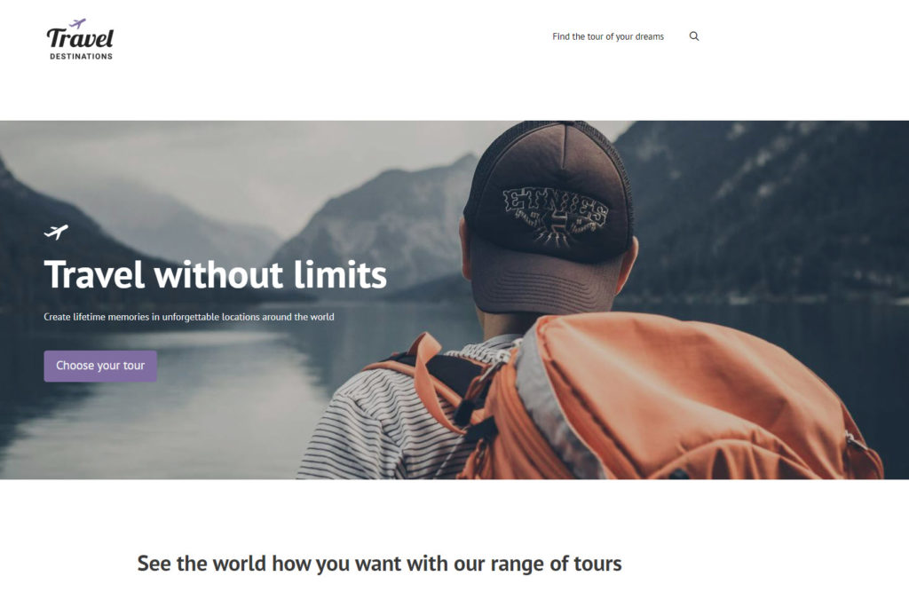 Example of a custom WordPress website