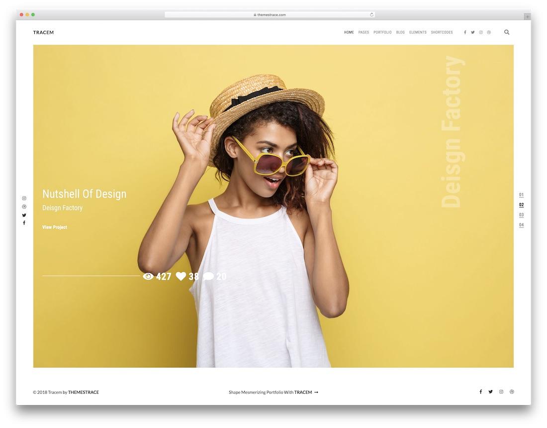 tracem graphic design website template