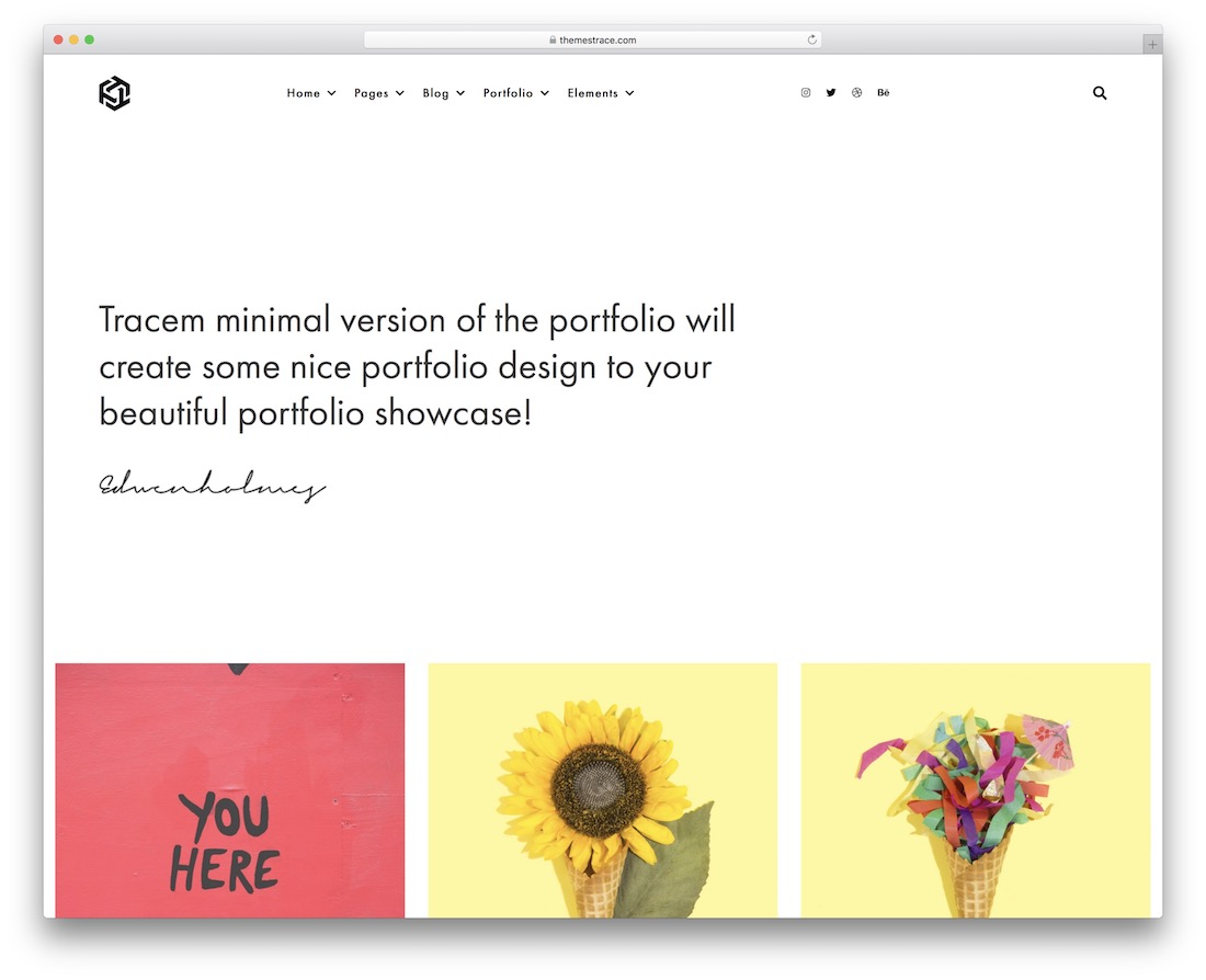 tracem photography website template