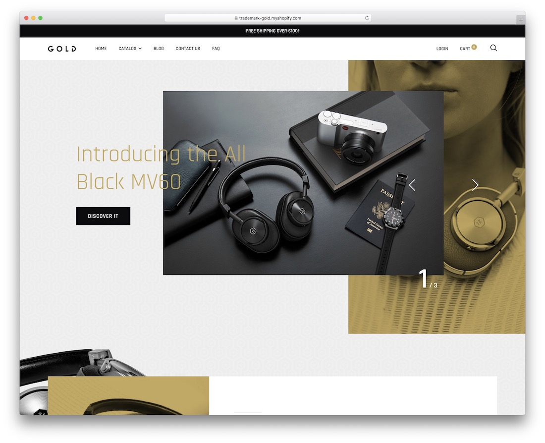 trademark single product shopify theme