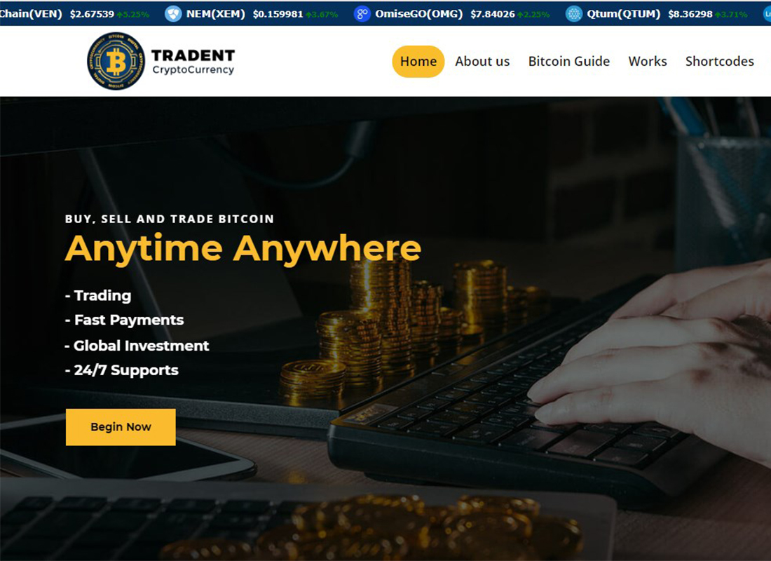 tradent-cryptocurrency-wp-theme