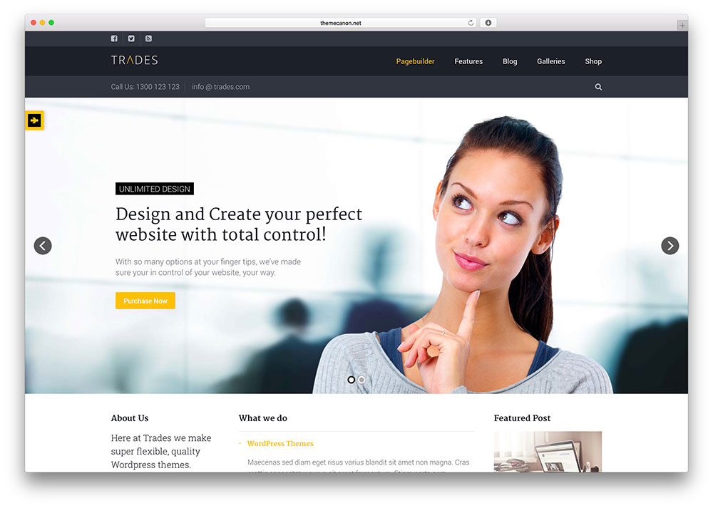 Best wordpress corporate business themes of 2016 for startups and trades flexible corproate wordpress theme friedricerecipe Image collections