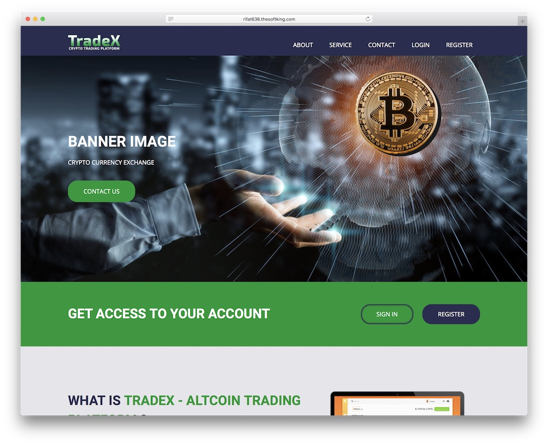 tradex cryptocurrency wordpress plugin