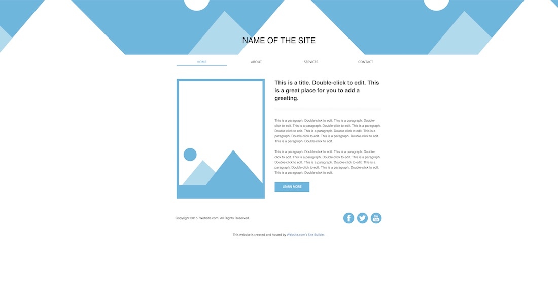 traditional blank website template