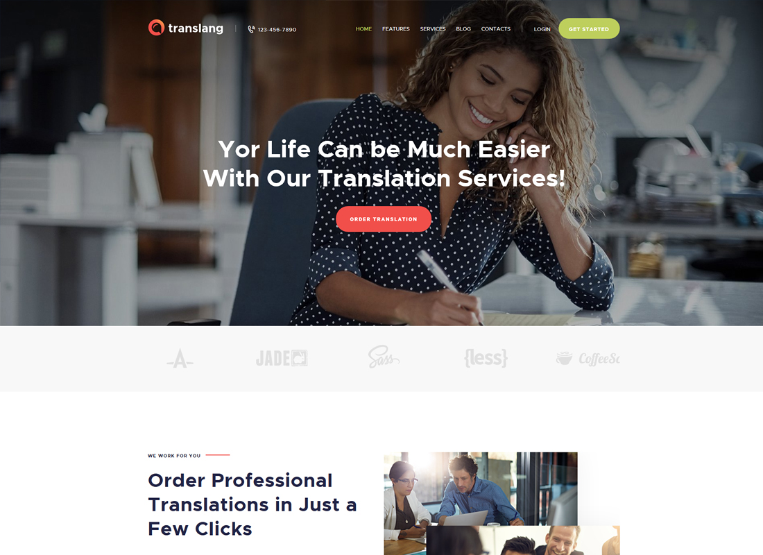 Translang | Translation Services & Language Courses WordPress Theme