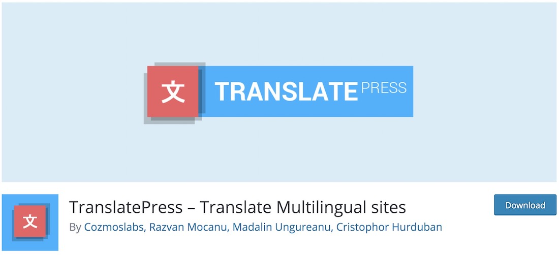 translatepress free wordpress multisites plugin